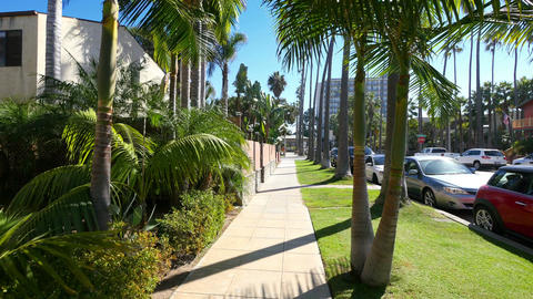 Three videos of walking in the california in 4K Footage