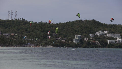 Kitesurfing on island Boracay and Bulabog Footage