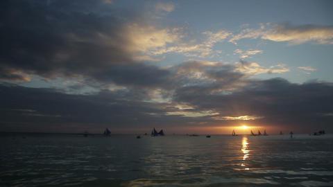 Sunset on a tropical island Footage