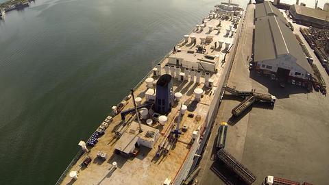 Ship at Dock Footage