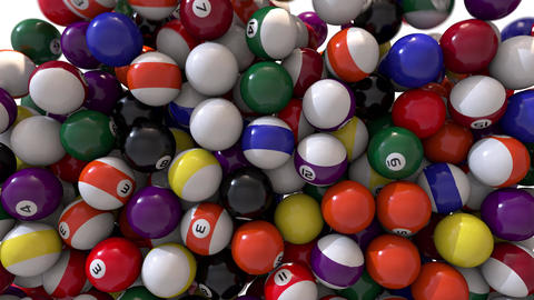 Pool billiards balls fill screen transition composite overlay 4K Footage
