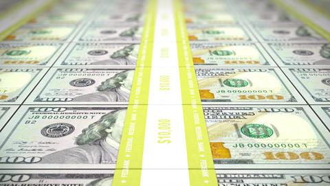New 100 USD Stacks, Loop, DOF, 4K stock footage