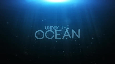 Underwater Logo Reveal After Effects Template