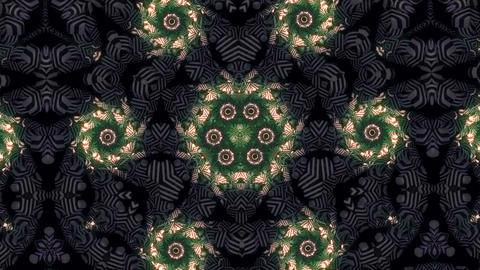 Glowing Spirals Kaleidoscope Loop Animation