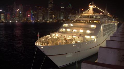 Cruise Ship at the pier in Tsim Sha Tsui, Kowloon, Hong Kong