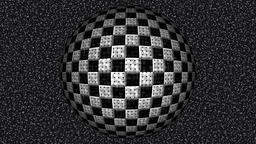 Abstract decorative black and white video with rotating... Stock Video Footage