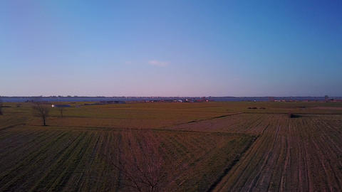 Flight above field Footage