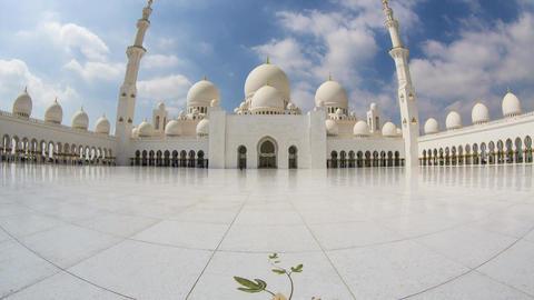 UAE Abu Dhabi, Grand Mosque Timelapse 1 Footage
