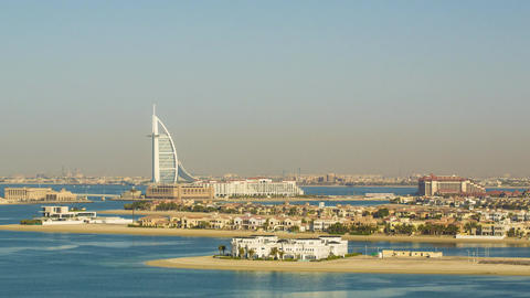 UAE Dubai Burj Al Arab, Atlantis Hotel Look Footage