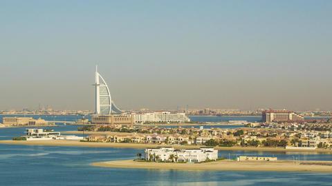 UAE Dubai Burj Al Arab, Atlantis Hotel Look Footage