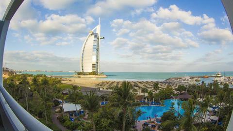 UAE Dubai Burj Al Arab, Jumeirah Hotel Look 1 Footage