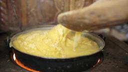 Making of polenta Footage