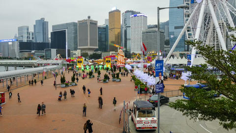 Central Harbourfront Event Space. Timelapse Live Action
