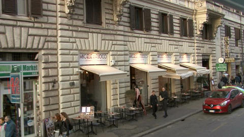 Ride through the streets of Rome Footage