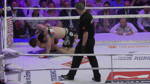 Orenburg, Russia - 27 May 2016: The fighters compete in mixed martial arts Footage