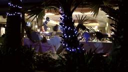 Thailand Pattaya 035 ravindra beach resort,evening scene,illuminated restaurant Footage