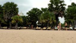 Thailand Pattaya 037 ravindra beach resort, end of day at sand area Footage