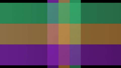 Colorful animated strips in green, orange and purple. Video background with roll Animation