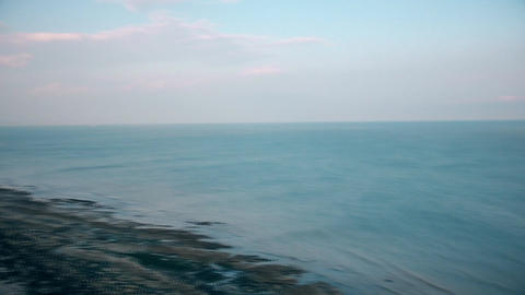 The sea and the promenade Stock Video Footage