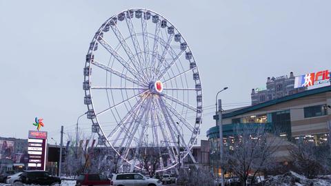 Ferris Wheel Illumination Almaty Kazakhstan Time Lapse... Stock Video Footage
