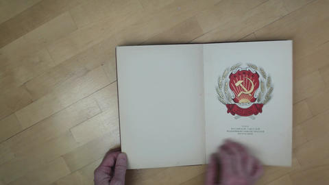 flipping book with pictures Footage
