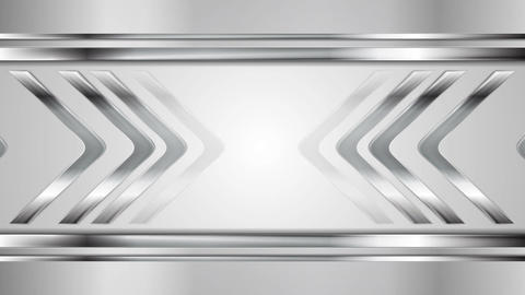 Metallic silver arrows tech motion graphic design Animation