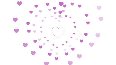 Hearts, a Romantic Motion Background (Seamless Looping Video) Animation