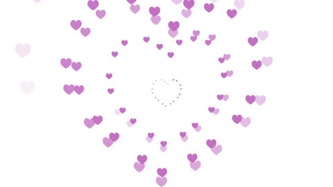 Hearts, a Romantic Motion Background (Seamless Looping... Stock Video Footage
