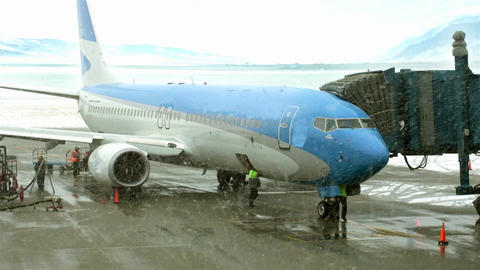 Plane In Blizzard Stock Video Footage