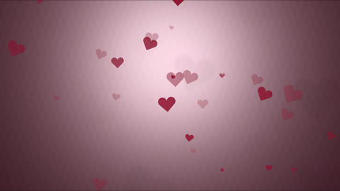 Valentine hearts low saturation background Animation