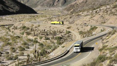 Trucks In Desert Footage