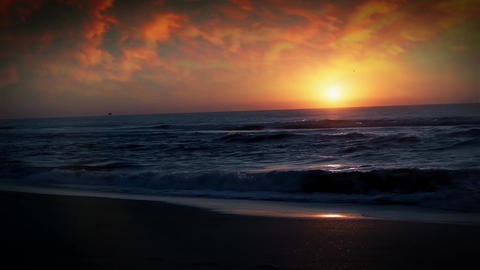 Sunset On The Sea Filmmaterial