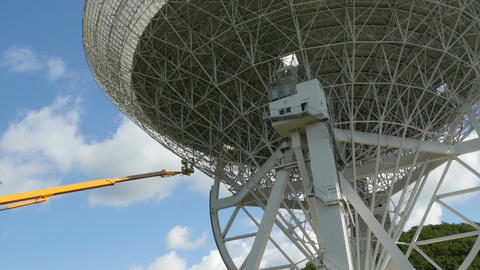 11818 working renovate huge radio telescope zoom Footage