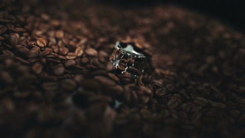 Coffee beans in the grinder Animation