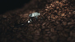 Coffee beans in the grinder Stock Video Footage