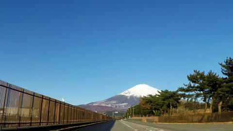 Road where Mt. Fuji can be seen Footage