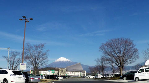 Service area and Mt. Fuji Footage