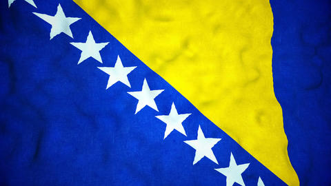 Bosnian Flag Seamless Video Loop Animation