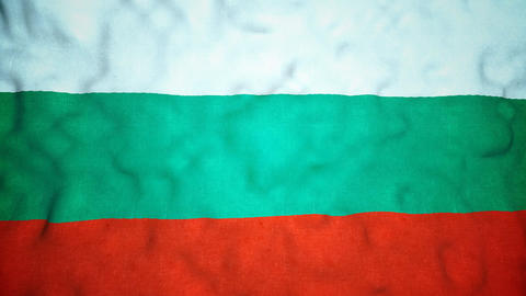 Bulgarian Flag Seamless Video Loop Animation