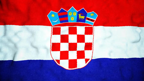 Croatian Flag Seamless Video Loop Animation