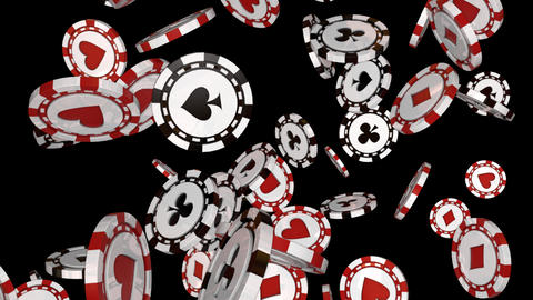 The Falling Poker Chips Loop Animation