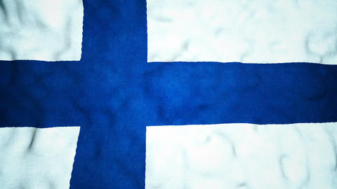 Finnish Flag Seamless Video Loop Animation