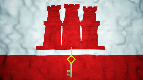 Gibraltarian Flag Seamless Video Loop Animation