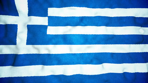 Greek Flag Seamless Video Loop Animation