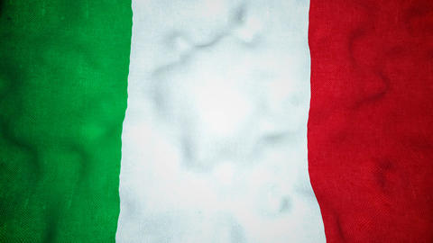 Italian Flag Seamless Video Loop Animation