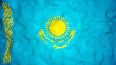 Kazakh Flag Seamless Video Loop Animation