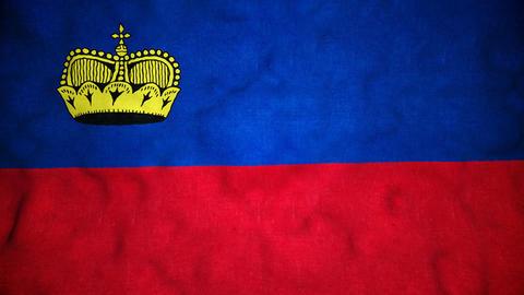 Liechtensteinian Flag Seamless Video Loop Animation