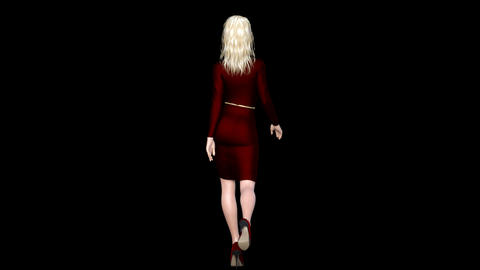 NR161 Catwalk Model Back Animation