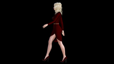 NR161 Catwalk Model Left Animation