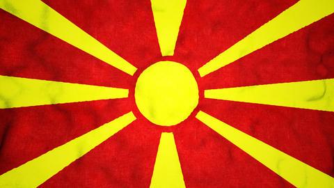 Macedonian Flag Seamless Video Loop Animation